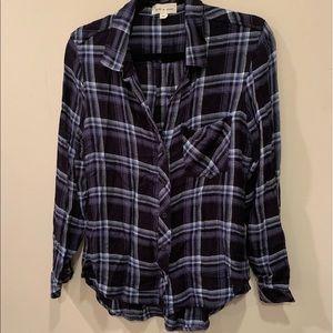 Cloth & Stone - Plaid Button Down Blouse